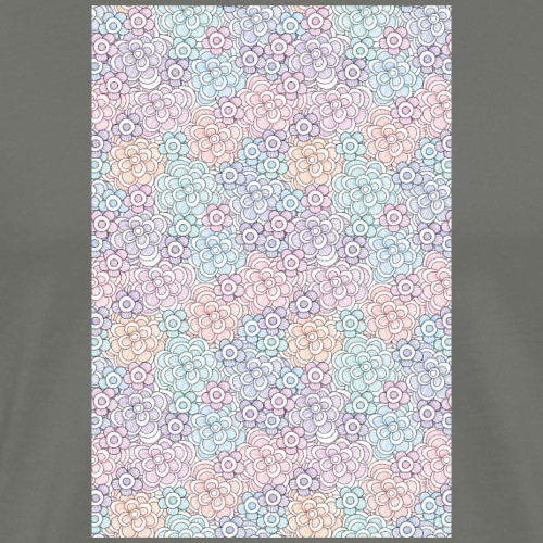 Florales Muster pastell | Handy Cover Case - Männer Premium T-Shirt