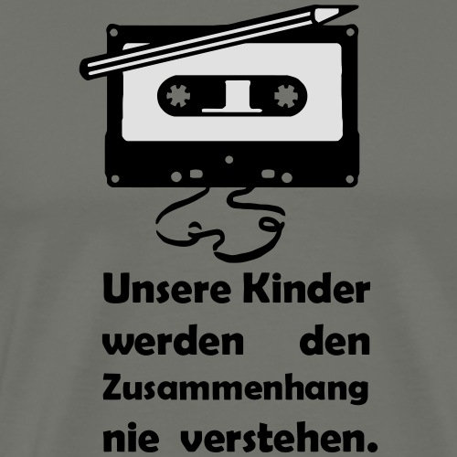 Tape Kassette Musik- Unsere Kinder - Männer Premium T-Shirt