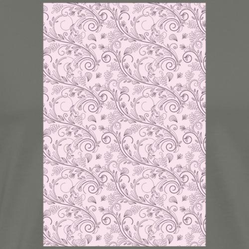 Florales Muster rosa | Handy Cover Case - Männer Premium T-Shirt