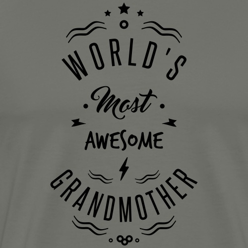 AWESOME GRANDMOTHER - T-shirt Premium Homme