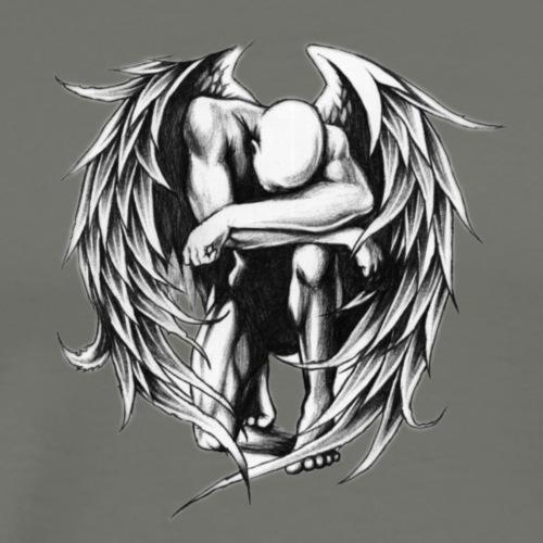 Fallen Angel Tattoo Design InPixio - Männer Premium T-Shirt