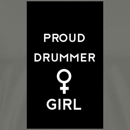 Proud drummer girl - black - Herre premium T-shirt