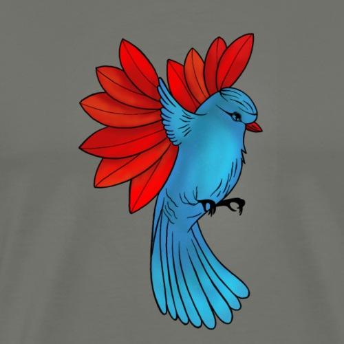 Ave alas de hoja - Camiseta premium hombre