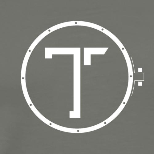 TK_Logo WHITE - Herre premium T-shirt