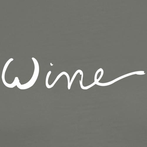 WINE art logo WIT - Mannen Premium T-shirt