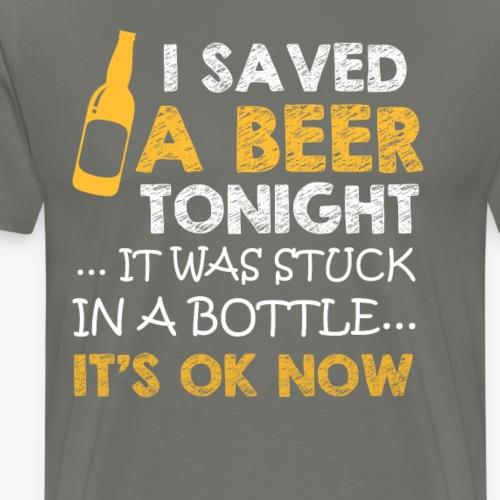 Ich rette ein Bier es steckt in einer Flasche fest - Männer Premium T-Shirt