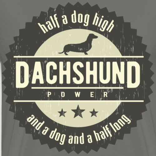 Dachshund Power - Mannen Premium T-shirt