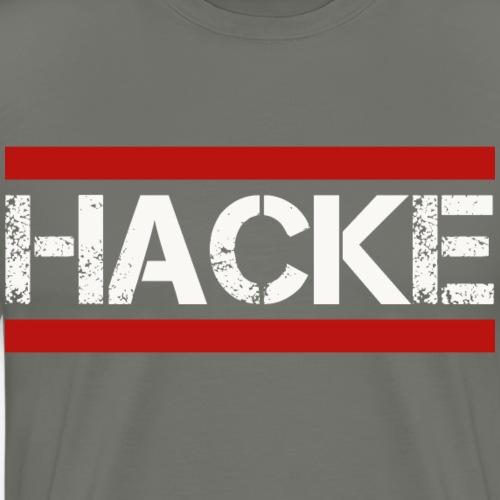 Hacke Dicht Betrunken - Männer Premium T-Shirt