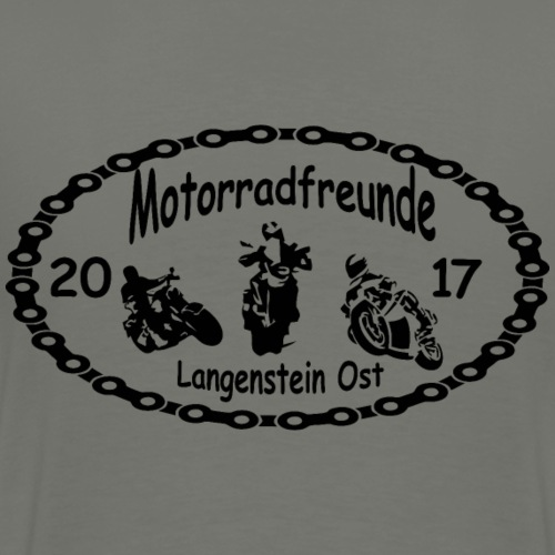 Motorradfreunde schwarz - Männer Premium T-Shirt