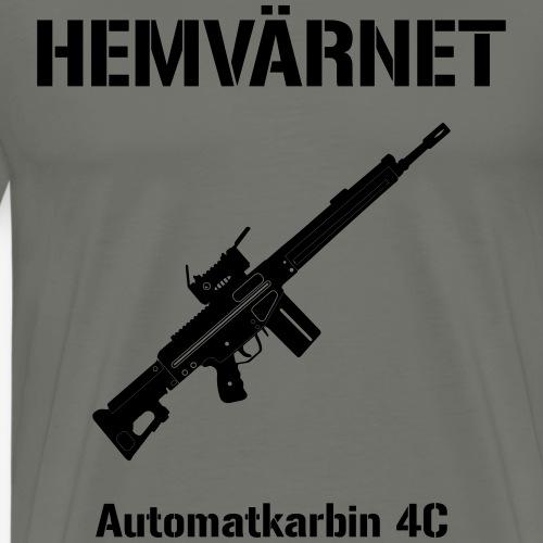 Hemvärnet - Automatkarbin 4C + SWE Flagga - Premium-T-shirt herr