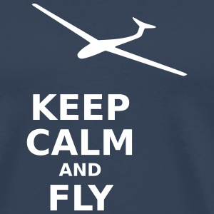 Keep calm and fly - Men's Premium T-Shirt