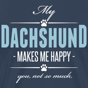 My Dachshund makes me happy - Men's Premium T-Shirt