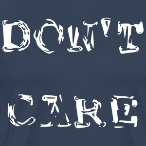 Do not Care i dårligt malet stil - Herre premium T-shirt