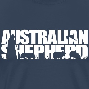 AUSTRALIAN SHEPHERD WORKING DOG - Men's Premium T-Shirt