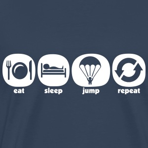 Eat Sleep Jump Repeat - Männer Premium T-Shirt