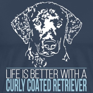 LIFE IS BETTER WITH A CURLY COATED RETRIEVER - Men's Premium T-Shirt