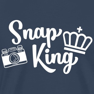 Snap Koning Funny Fotografie - funny - Mannen Premium T-shirt