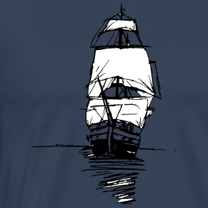 An old ship - Men's Premium T-Shirt