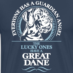 GUARDIAN ANGEL GREAT DANE - Premium T-skjorte for menn