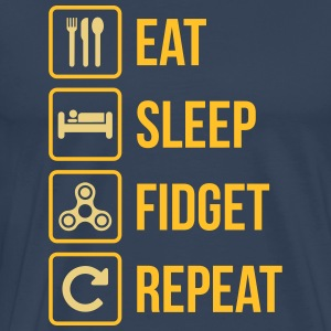 Eat Sleep Fidget Repeat - Männer Premium T-Shirt