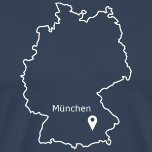 Place to be: Munich - Mannen Premium T-shirt