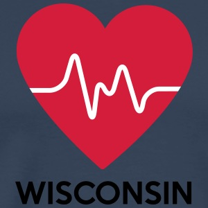 heart Wisconsin - Men's Premium T-Shirt