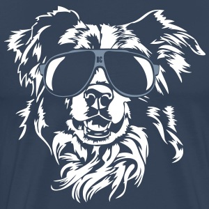Border Collie kyla - Premium-T-shirt herr