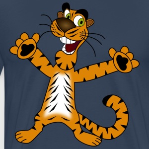 Tiger friendly and funny - Men's Premium T-Shirt