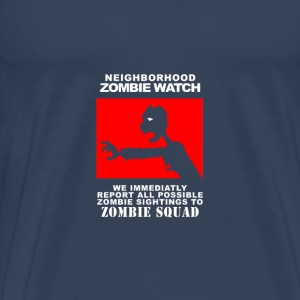 Neighborhood Zombie Squad - Herre premium T-shirt