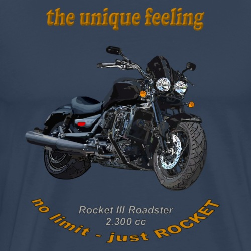 he unique feeling – Rocket III Roadster black - Männer Premium T-Shirt