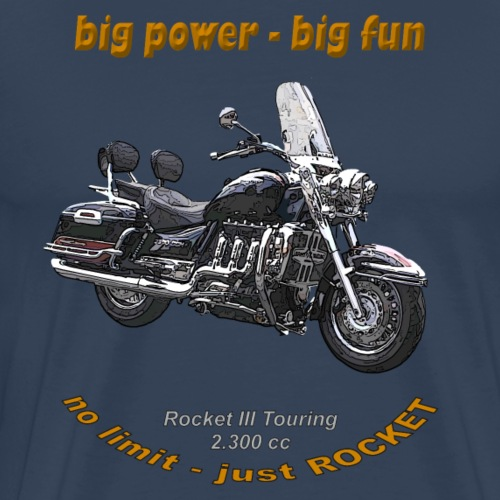 big power – big fun – Rocket III Touring black red - Männer Premium T-Shirt