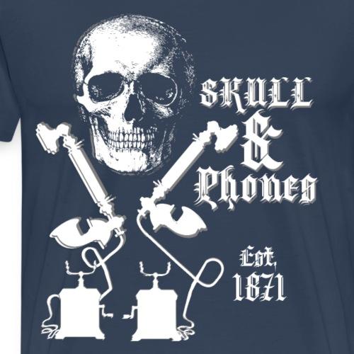 Skull and Phones Est 1871 - Mannen Premium T-shirt