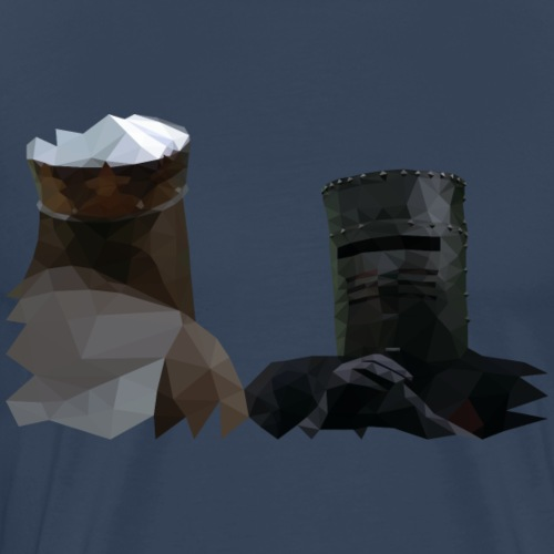 King Arthur and the Black Knight - Monty Python - Mannen Premium T-shirt