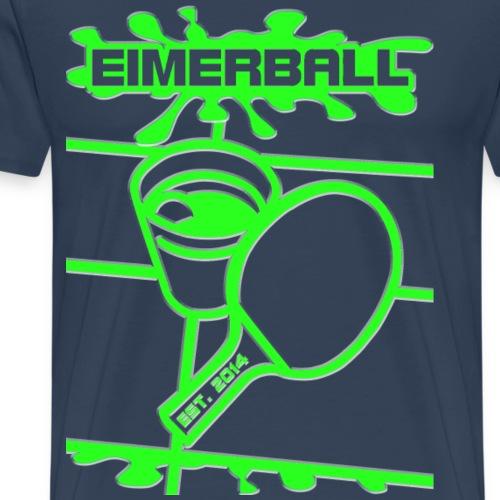 EIMERBALL Logo ALPHA gruen splash - Männer Premium T-Shirt