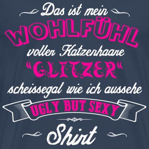 Ugly but sexy pink Katzenhaare Glitzer Shirt - Männer Premium T-Shirt