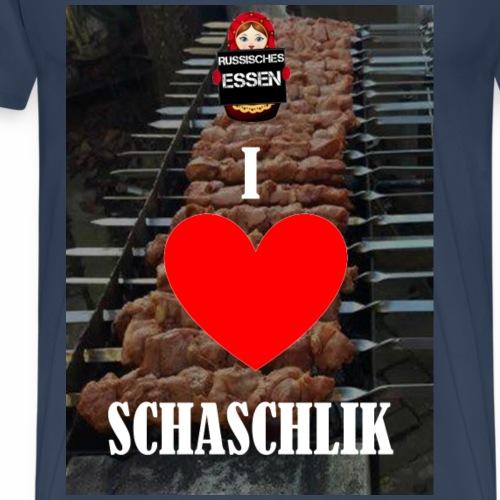 I Love Schaschlik - Männer Premium T-Shirt