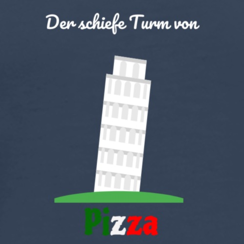 Der schiefe Turm von Pizza - Männer Premium T-Shirt