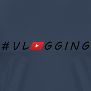 YouTube #Vlogging - Premium T-skjorte for menn