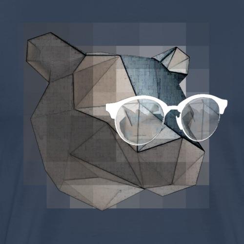 L'ours aux lunettes. - T-shirt Premium Homme