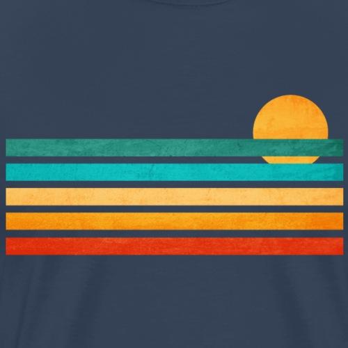 Sommer Meer Linien Illustration - Männer Premium T-Shirt