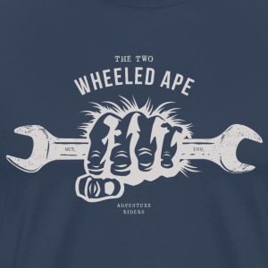 The Two Wheeled Ape, Ape handed, Biker T-shirt - Men's Premium T-Shirt