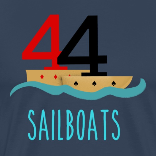 Poker 44 Sailboats - Männer Premium T-Shirt