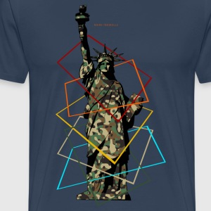Militay Statue of Liberty - Men's Premium T-Shirt