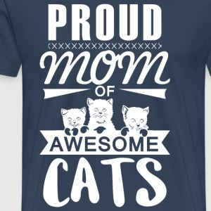 Proud mother cat - Men's Premium T-Shirt