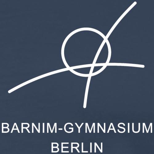 Barnim-Gymnasium - Schullogo (weiß) - Männer Premium T-Shirt