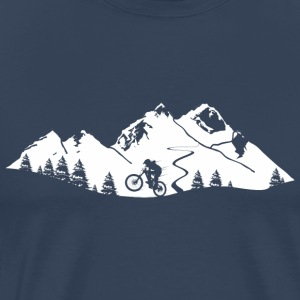 Mountain Bike Trail - Premium T-skjorte for menn