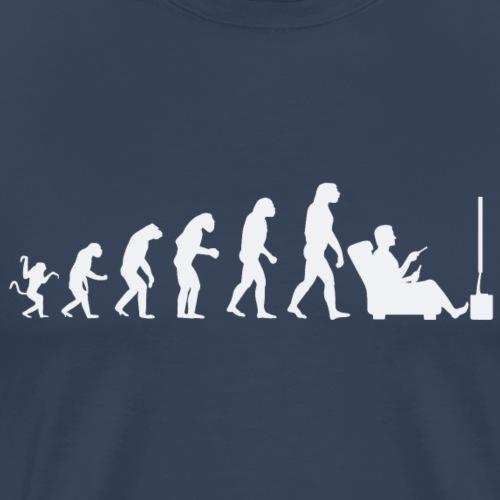 Evolution de l'homme : objectif Télévision? - T-shirt Premium Homme