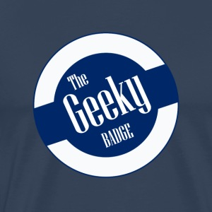Geek: Den Geeky Badge - Herre premium T-shirt
