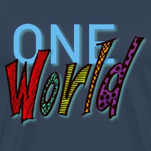 One World - Herre premium T-shirt