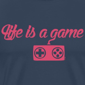 Life is a game (F) - Men's Premium T-Shirt